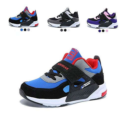 Shoes Gym Boys (LINGMAO Daily Boy Sneakers Cute Casual Tennis Running Shoes for Unisex Kids(Blue,31))