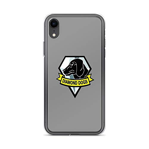 iPhone XR Case Clear Anti-Scratch Metal Gear Solid V - Diamond Dogs, Metal Cover Phone Cases for iPhone XR, Crystal Clear]()