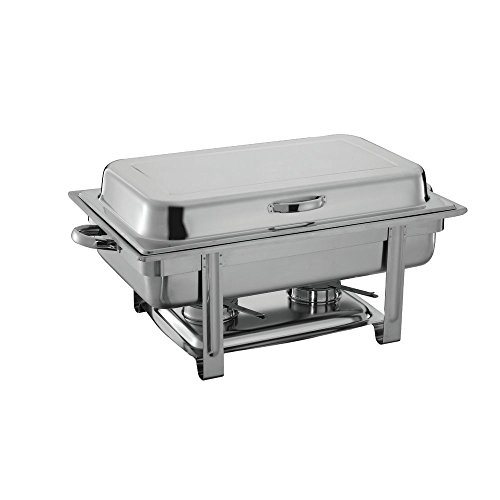(HUBERT 9 1/2 Qt Full Size Stainless Steel Chafer with Hinged Lid - 24 3/4