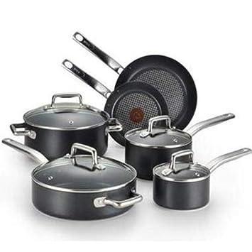 T-fal/Wearever 10 piezas profesional batería de cocina Set, Multi, Negro: Amazon.es: Hogar