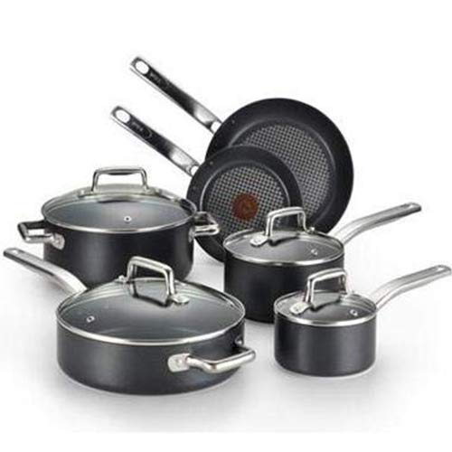 (T-Fal/Wearever 10 Piece Professional Cookware Set, Multi,)