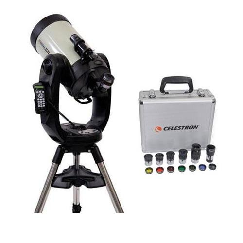 Celestron CPC Deluxe 1100 HD Computerized Telescope - with Deluxe Accessory Kit (5 Plossl Eyepieces, 1.25'' Barlow Lens, 1.25'' Filter Set, Accessory Carry Case) by Celestron