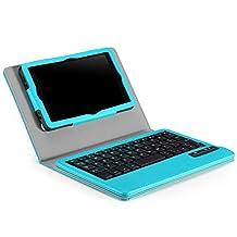 MoKo Keyboard Case for Amazon Kindle Fire HD 6 2014 - Wireless Bluetooth Keyboard Cover for Amazon Kindle Fire HD 6 Inch 2014 Tablet, Light BLUE