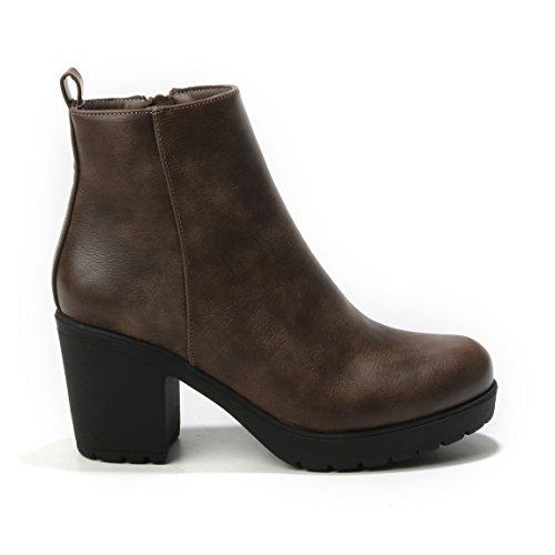 HERIXO Women's Boots Khaki f0dDuxg