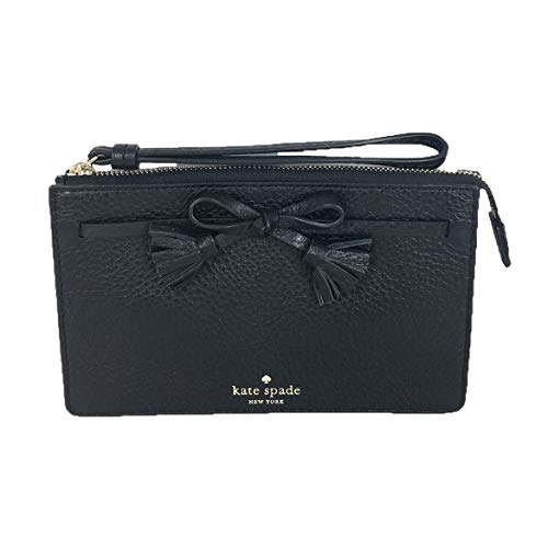 Kate Spade Hayes Pebbled Leather Leather Wristlet Black