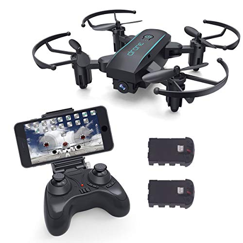 YouCute X01HW Mini Foldable RC Drone 3D Flip Altitude Hold Headless Mode Protable Pocket 2.4GHz Nano Quadcopter Easy to Fly Beginners Kids Adults(with 720P Camera)
