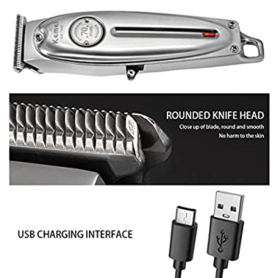 Electric All-in-one Hair Clipper with LCD Display for Men Silver: Clothing