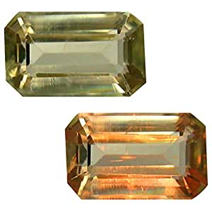 Deluxe Gems 1.92 ct Octagon Cut (9 x 6 mm) Unheated/Untreated Turkish Color Change Diaspore Natural Loose Gemstone