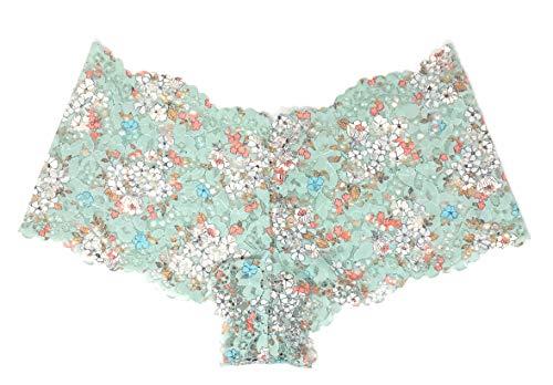 Victoria's Secret Floral Lace Sexy Shortie Panty Small Silver Sea Floral