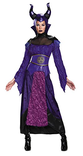 UHC Disney Descendants Maleficent Outfit Womens Fancy Dress Halloween Costume, Plus (18-20) (Mascot Costume Disney)