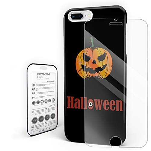 Slim Fit Hard Shell Case for iPhone 7p/8p Full Protective Shockproof Halloween Pattern Evil Pumpkin Horror Theme Cover Case for Apple 7p/8p ()
