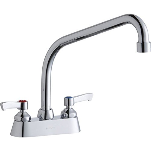Elkay LK406HA10L2 Deck Mount Faucet with High Arc Spout and Lever Handles