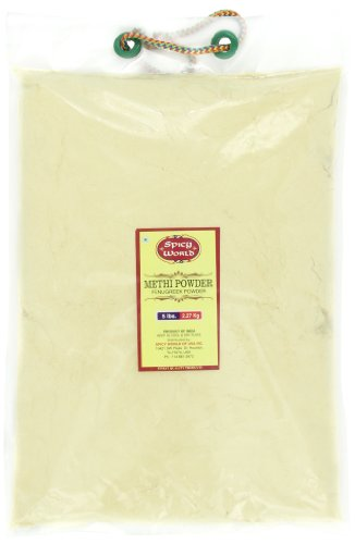 Spicy World Methi Powder (Fenugreek Ground) Bulk, 5-Pounds