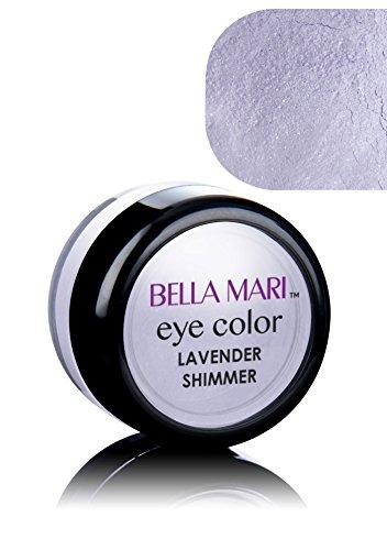 Bella Mari Natural Mineral Eyeshadow, Lavender (Shimmer); 0.1oz