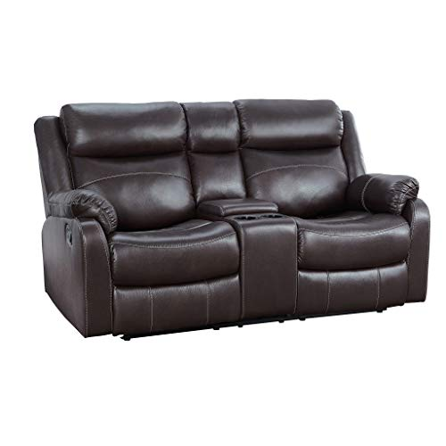 Homelegance 9990 Double Lay Flat Reclining Love Seat, 70