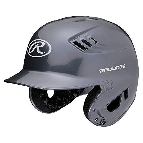Helmet Metallic - Rawlings R16 Series Metallic Batting Helmet, Silver, Junior