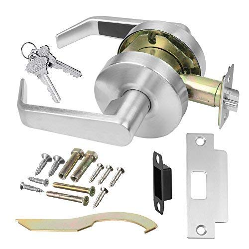 Commercial Cylindrical Lever Heavy Duty Non-Handed Grade 2 Door Handle (Classroom, Satin Chrome)