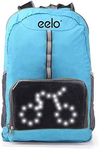 eelo Cyglo – The Ultimate Outdoor Cycle Backpack for Full Visibility and Awareness. Keeping The Rider Safe from Careless Drivers. Safety Back Pack with Rear LED Signal Display