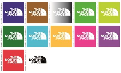 """24 wall decals stickers The North Face logo. Good size: 4"""""""