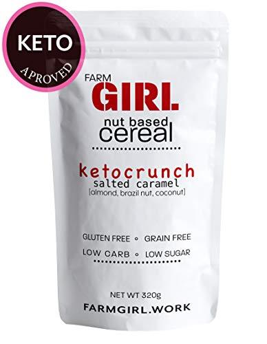 Farm Girl: Keto Crunch Salted Caramel, Nut Based Cereal, Keto Approved, Low Lectin, Vegan,