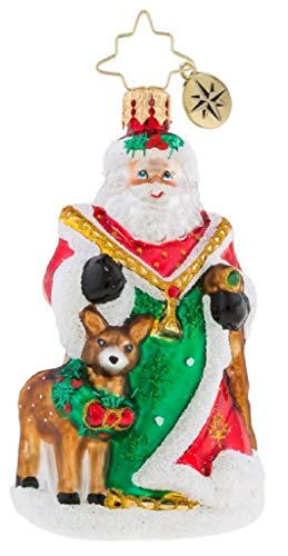 Christopher Deer Radko (Christopher Radko 1019168 My Deer Santa Little Gem Ornament)