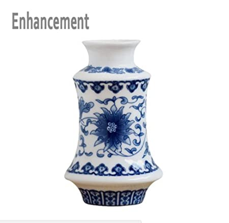 Handmade Blue And White Ceramic Vase Glittering Porcelain Flower