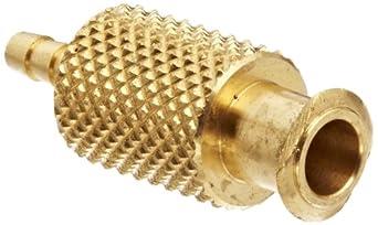 "Female Luer Lock Fitting to Tube Brass Tube ID 3/32"" .105"" Barb OD"