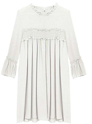 Ruched 2 Sleeve Dress Jaycargogo Cocktail Long Women's Bust Shirts 5TwwzqxS