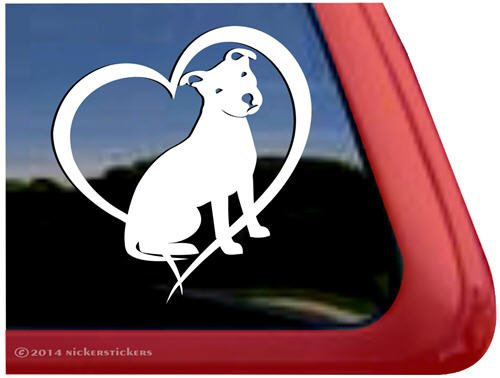 Love Terrier Vinyl Window Decal