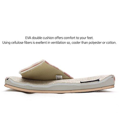 Arnaldo Indoor Foam Cotton Checked amp; Men Toe Women Open Sandals Comfort for Unisex Memory bassini Gery Pattern Slippers House pxwvq4prO