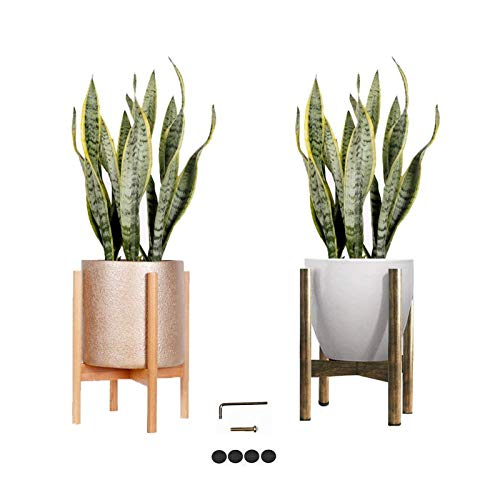 - Melchef Mid Century Plant Stand Modern Wood Plant Stander Plant Pot Holder,Indoor Out Flower Pot Stands,Handmade Wood Standing Holder for Indoor House Plants and Outdoor Patio Deck(Pot not Included)
