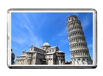 La Torre Inclinada De Pisa Italia Piza Recuerdo Iman Del