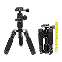 Koolehaoda Travel Portable H-50 Mini Tripod Compact Desktop Macro Mini Tripod With Ball Head For DSLR Camera Canon Nikon