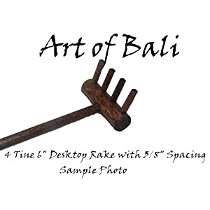 Art of Bali Zen Garden Rake 50 Pack Four Tine Desktop Rake - Zen Gardens
