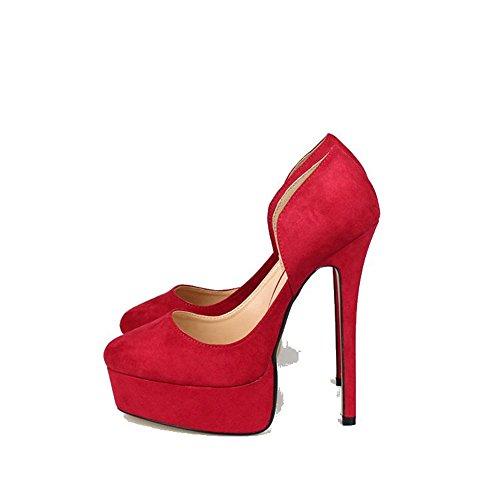 Stivali Della Us9 Rosso Pompa Formato 43a Del Si Più 16 48 Piattaforma Mey 5 Hey Sandali alta Donne A eur40 Super Tallone 5wq6OO
