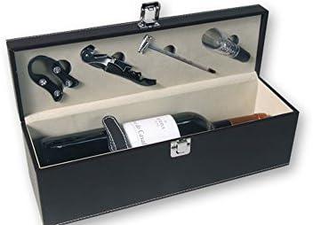 Compra Dakota Estuche Caja de Vino Polipiel con Accesorios: Sacacorchos, Corta cápsulas, Termómetro y Aireador de Vino. 36 cm 1 Unidad (sin Botella) en Amazon.es