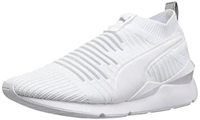 PUMA Womens Muse Slip on Wn White Size: 9.5