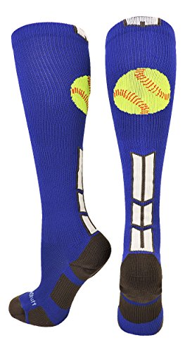 MadSportsStuff Softball Logo Over the Calf Socks