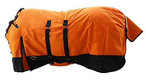 """CHALLENGER 76"""" 1200D Turnout Waterproof Horse Winter Blanket Heavy Weight Belly Band 522B"""