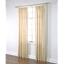 Renaissance Stylemaster Home Products Fashion Pinch Pleated Foam Back Drape Pair, 48 by 63-Inch, Cream