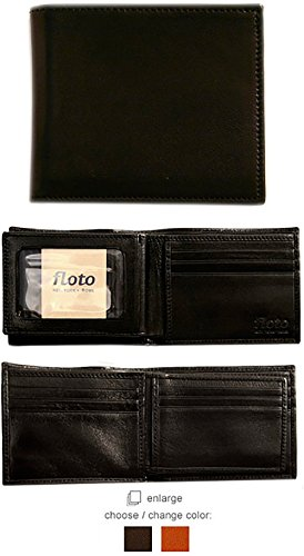 Firenze Handmade Leather Double Billfold I.D. Wallet ()