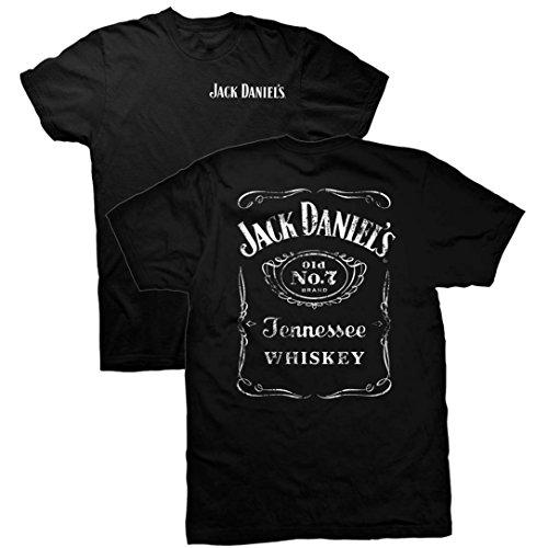 Jack Daniels T-shirt Logo Label 2 Sides-xxl (Xxl Jack)