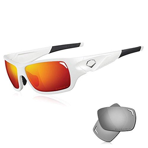EvoShield Doaks Sunglasses, Matte White, One - Evo Sunglasses