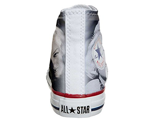 Converse Customized Adulte - chaussures coutume (produit artisanal) Marilyn Monroe