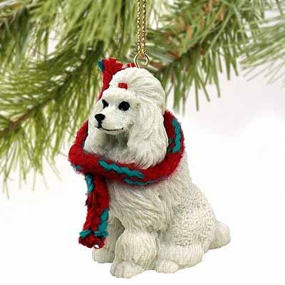 Poodle Miniature Dog Ornament - White