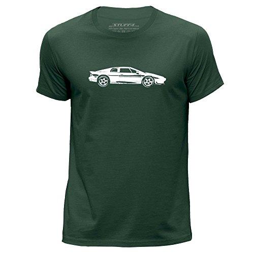 STUFF4 Uomo/Piccolo (S)/Verde Scuro/Girocollo T-Shirt/Stampino Auto Arte / Esprit S4