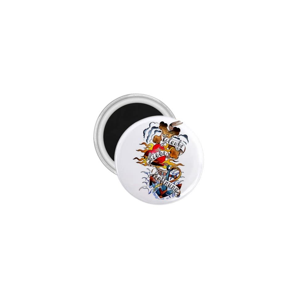 Tattoo Cross Art Fridge Souvenir Magnet 2.25