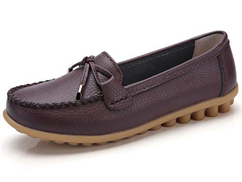 omfy Plus Walking Flat Loafer(10 M US,Brown) ()