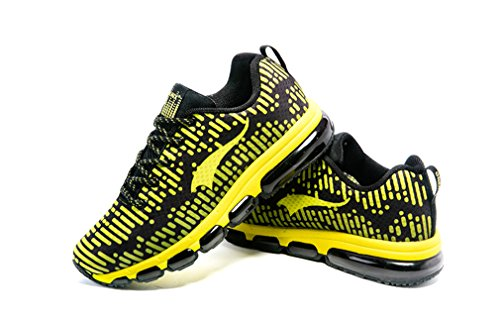 de Competición Negro de ONEMIX Adultos de Zapatillas Running Sintético Unisex Material Amarillo tIZBBwq