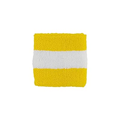 Striped Cotton Terry Cloth Moisture Wicking Wrist Band
